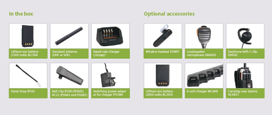 Hytera PD6 Series Accessories